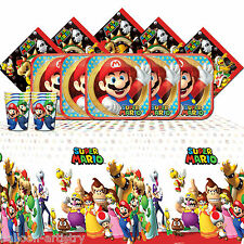Super mario bros brothers happy birthday party vaisselle pack pour 16 personnes