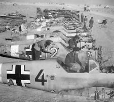WWII B&W Photo Luftwaffe Bf109 Wrecks  WW2/ 6056