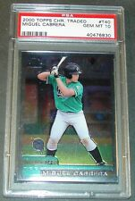 2000 TOPPS CHROME TRADED MIGUEL CABRERA ROOKIE PSA GEM MINT 10 MVP
