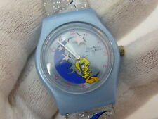 "TWEETY BIRD WB,""Sitting on Moon w/Spinning Stars"",LADIES/KIDS WATCH,977,L@@K!"