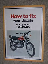 1975 Suzuki One Cylinder Motorcycle Repair Manual How to Fix MORE IN OUR STORE R