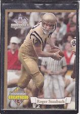 1994  ROGER STAUBACH - Ted Williams Football Card - # PG8 - Naval Academy