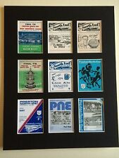 """PRESTON NORTH END RETRO POSTERS 14"""" BY 11"""" PICTURE MOUNTED READY TO FRAME"""