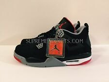 DS NEW AIR JORDAN RETRO 4 [SZ 11] BRED BLACK CEMENT GREY FIRE RED 308497-089 IV