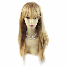 Wiwigs Long Sexy Strawberry Blonde Mix Fringe Straight Skin Top Ladies Wig