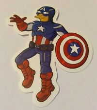 Pegatina/sticker/Autocollant: Captain America/ The Simpsons/ Capitán América
