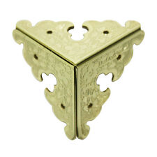 Pack of 4 Table Cabinet Brass 34mm Decor 3-Sides Square Edging Corner Plate G301