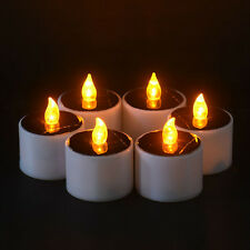 Yellow Solar Power LED Candles Flameless Electronic Solar LED Tea Lights LampWCA