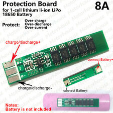 8A PCB Protection Circuit Board for 3.7V 18650 Li-ion 1S lithium LiPo Battery
