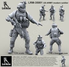 Live Resin 1:35 US Army Soldier with ACH MICH Helmet #1 Resin Kit #LRM35001