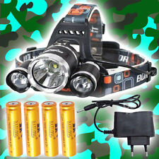 SWAT POLICE 1000M LAMPE FRONTALE 7000 LUMENS LED FLASHLIGHT AVEC 4x18650