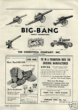 1956 PAPER AD Toy Conestoga Big Bang Cannon 5 Images Aero Hawk Inflatable Kite