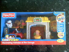 New Fisher Price Little People Discovering Vehicles At The Garage. Playset.