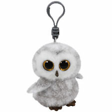 "TY Beanie Babies Boo's Owlette Owl Key Clip 3"" Stuffed Collectible Plush Toy NEW"