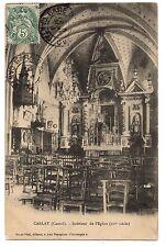 CPA 15 - CARLAT (Cantal) - Intérieur de l'Eglise (XVIe siècle) - Ed. Piat