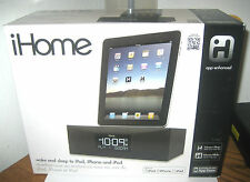 iHome iD83 App Enhanced Dual Clock Radio FM  For iPod, iPhone, and iPad