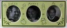 "Daddy + Mommy = Me Photo Frame Ceramic Light Green 10"" X 10"" 1"" GREAT BABY GIFT"