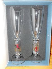 Kosta Boda Millennium Art Glass Wine Flute by Artist Bertil Vallien