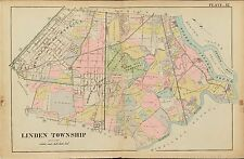 1906 ROSELLE, LINDEN UNION COUNTY, NEW JERSEY, ROSE HILL CEMETERY COPY ATLAS MAP