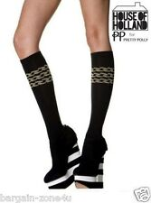 Ladies Women's House of Holland by Pretty Polly Black Triple Chain Socks
