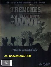 TRENCHES BATTLEGROUND - WORLD WAR ONE WWI - Original Footage (5 DVD BOXSET) NEW