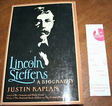 1974 Lincoln Steffens A Biography Hardcover Justin Kaplan SIGNED 1st EDITION
