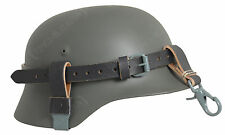 German Army Leather HELMET CARRYING STRAP Repro WW2 Belt Equipment Carry Straps