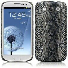 Samsung Galaxy S3 i9300 Snakeskin PU Leather Hard Back Case Cover