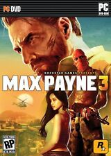 Max Payne 3 III  Original Brand New Sealed PC Game DVD Max Payne 3 III