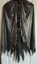 Adult Women SILVER BLACK WING SHOULDER CAPE Halloween Costume Vampire Witch NWT
