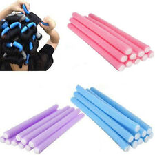 10Pcs Simple Soft Foam Curler Makers Bendy Twist Curls Tool Styling Hair Rollers
