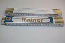Zollstock mit  NAMEN     RAINER   Lasergravur 2 Meter Handwerkerqualität