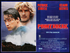 POINT BREAK • French 8 Panel Movie Poster (f) • SWAYZE • REEVES • SURFING • 1991