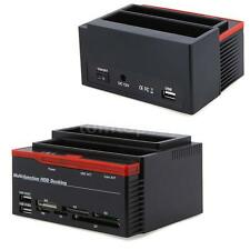 "Multi-Function 2.5/3.5"" SATA IDE HDD Docking Station Clone USB 2.0 HUB T5F4"