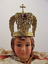 L' Enfant De Prague Chalkware Jesus - Columbia Statuary Italy - Jeweled Crown 65