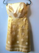 Kay Unger Yellow Strapless Silk Dress - Size 2 *-*