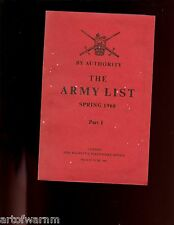 br- British - The army list: Spring 1968 part 1, sb in card box.
