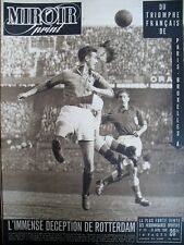 FOOTBALL HOLLANDE FRANCE CYCLISME PARIS BRUXELLES DIOT N° 151 MIROIR SPRINT 1949