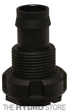 "Botanicare Ebb & Flow Barbed Fitting - 1/2"" Bulkhead - hydroponics tub head in"