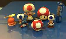 Nintendo Super Mario Mini Figures Toad Power Propeller Mushroom Japan  Set