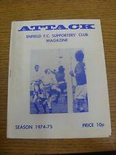 1974/1975 ENFIELD sostenitori CLUB MAGAZINE VOL: 5 NO: 8 (leggeri segni di sporco). T
