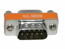 Mini Serial Null Modem Cable Adapter Converter M/F Male to Female DB9 RS232 New