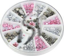 Diamant Facettenschliff Nail Art Strasssteine im Rondell, in 2, 3, 4, und 5mm