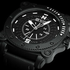 Military Sport Rubber Black Men's Watch Waterproof Wrist Dial Analog Compass