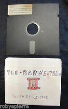 Floppy disc 5.25 inch 5 1/4 Commodore 64 The bard's tale III thief of fate a & b