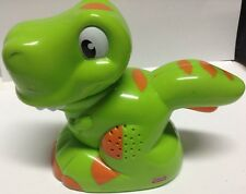 FISHER PRICE TOY green NOISY DINOSAURE LAMP/ jouet lampe dinosaure
