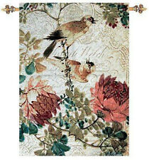Graceful Birds w/Florals Tapestry Wall Hanging