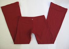 LULULEMON RED GROOVE PANT SIZE 6  TALL LEGGINGS YOGA DANCE FLARE ATHLETIC WORK O