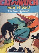 Halloween Party Old Cat Witch Game Vintage 30's Complete