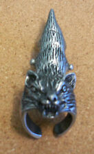 native american pewter ring armour wolf.